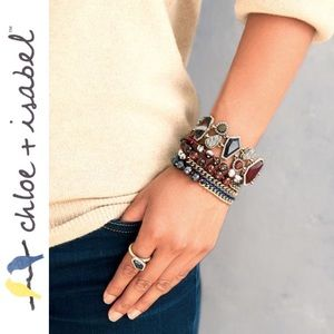 🆕 Bead + Ribbon Multi Wrap Bracelet c+i B282BU